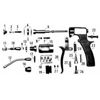 Syringe, vaxi-drench, 15cc, feed tube & clamps