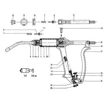 Syringe, henke drench-matic, handle screw