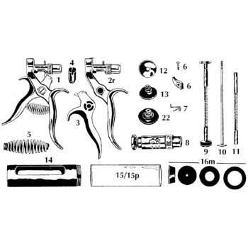Syringe, hauptner, plate for plunger, 10cc