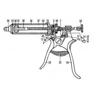 Kit, henke dosage repair kit, ratchet screw