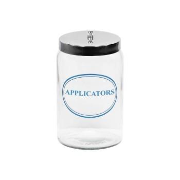 Jar, glass for applicator sticks