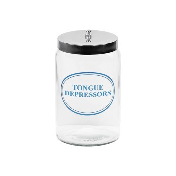 Jar, glass for tongue depressors
