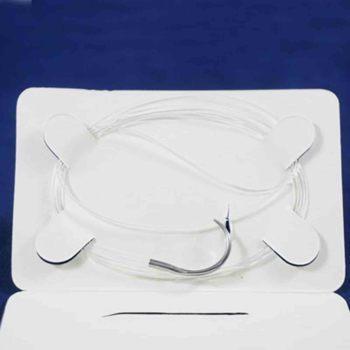 Suture, cruciate repair, nylon 50lb dble strand w/ swaged needle