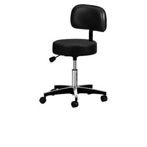 Stool,Black premium pneumatic stool w/back rest