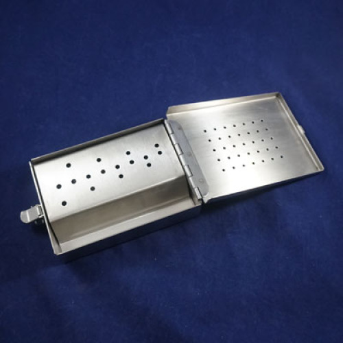 Staple, cruciate introducer stainless steel case for kit