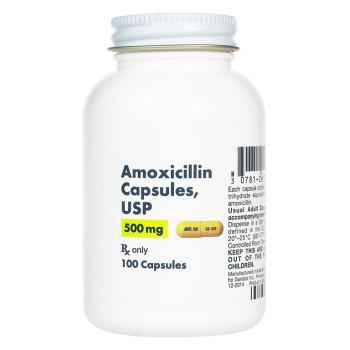 RX AMOXICILLIN 500MG, 100 CAPSULES