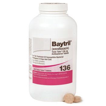 RXV BAYTRIL 136MG, 200 TASTE TABS