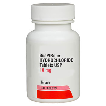 RX BUSPIRONE HCL 10MG, 100 TABLETS