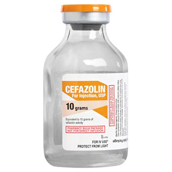 RX CEFAZOLIN 10 GM INJECTION