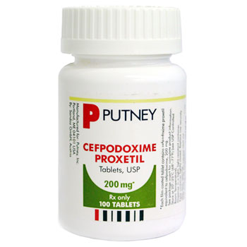 RX  CEFPODOXIME 200MG, 100 TABLETS