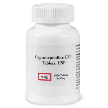 RX CYPROHEPTADINE 4MG, 1000TABS