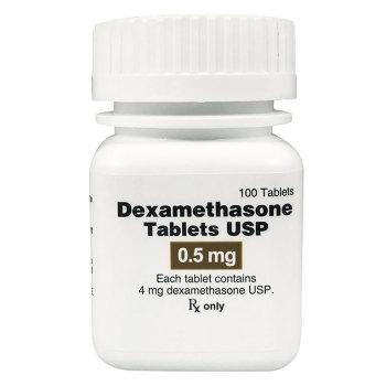 RX DEXAMETHASONE 0.5MG, 100 TABLETS