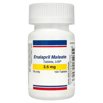 RX ENALAPRIL MALEATE 2.5MG, 100 TABS