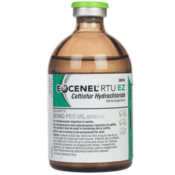 RXV Excenel (Ceftiofur HCl) 50mg/ml, 100ml
