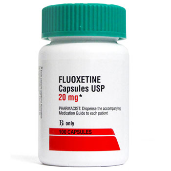 RX FLUOXETINE HCL 20MG, 100 CAPSULES