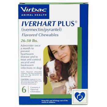 RXV IVERHART PLUS,VIRBAC MEDIUM,26-50LB,6PK
