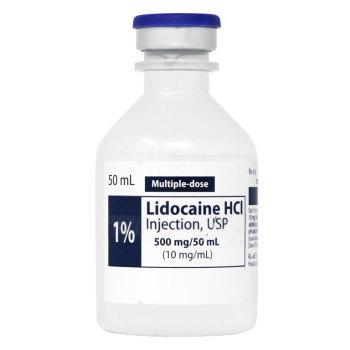 RX LIDOCAINE 1% FOR NERVE BLOCK,50ML