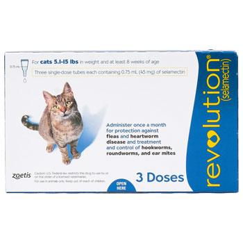 RXV, ZOETIS, REVOLUTION BLUE,CATS,3PK,5-15LB
