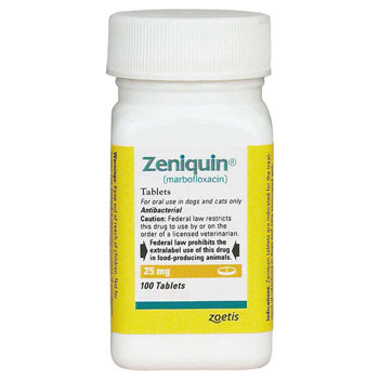 RXV, ZOETIS, ZENIQUIN 25MG, 100 TABLETS
