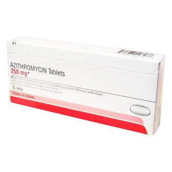 RX AZITHROMYCIN 250MG 1X6 TABS(ZPAC)