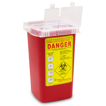 2 OF SHARPS CONTAINERS, 1 QT