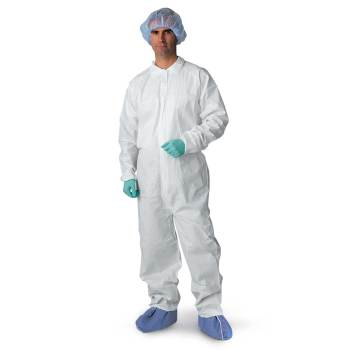 COVERALL,BREATHABLE,WHITE,25/CS