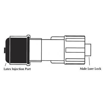 """Adapter, male luerlock, 1 1/3""""L, sterile"""
