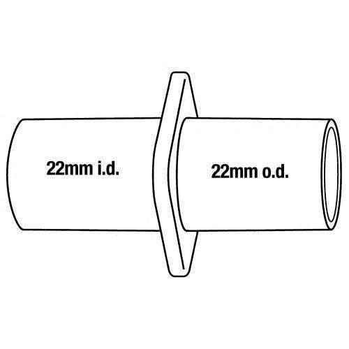 Anesthesia, hose adaptor, 22mm ID x 22mm OD, 2 pk