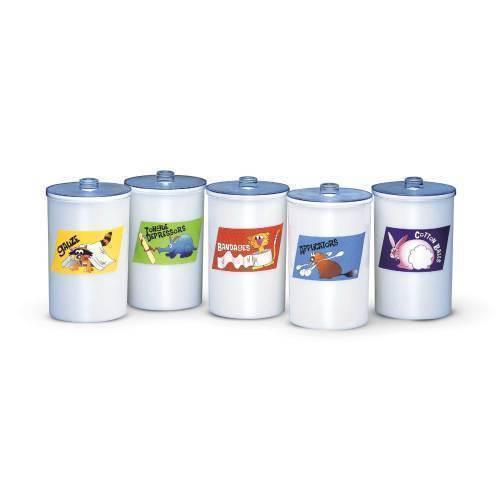 Jar, sundry, w/cartoon characters