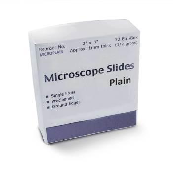 SLIDE,MICROSCOPE,PLAIN,72/BOX