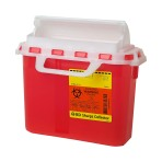 CONTAINER,SHARPS,2 GAL,RED,FUNNEL TOP,10 EA/CS