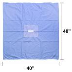 Fenestrated Drape, 40-in x 40-in, 4-in x 3/4-in Rectangle Opening, each