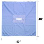 Fenestrated Drape, 40-in x 40-in, 7-in x 1.25-in Rectangle Opening, each