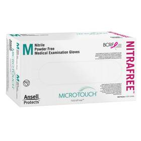 GLOVE,EXAM,MICROTOUCH NITRAFREE,MEDIUM,100/BOX