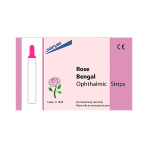 OPHTHALMIC STRIPS, ROSE BENGAL, 100 EACH/BOX