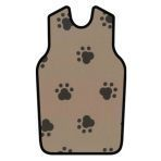 APRON, X-RAY, W/QUICK RELEASE, SMALL, BROWN W/BLACK PAWS