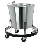 """S/S,KICK BUCKET AND FRAME,14.5""""D X 12""""H"""