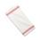 Towel, crash, red stripe, 17