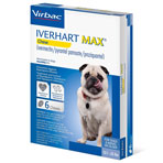 RX IVERHART MAX SMALL, VIRBAC, SOFT CHEW,(12.1-25LBS),6 MONTH