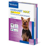 RX IVERHART MAX TOY, VIRBAC SOFT CHEW, (6-12 LBS),6 MONTH