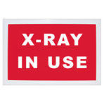 SIGN, X-RAY ROOM, ENGLISTH, RED
