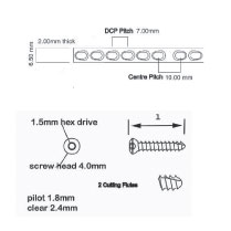 Kit, knee cruciate repair kit, 1.8mm drill bit hard