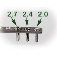 2.4mm cortical self tapping screw 10mm