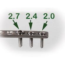 2.4MM x 16MM TITANIUM CORTICAL SELF-TAPPING SCREWS