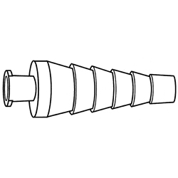 CONNECTOR,BARBED,W/FEMALE LUER LOCK,2.8-7mm