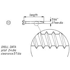 Screw, self tapping, 2.7mm x 41mm, 6pk
