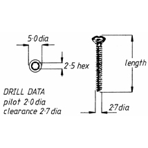 Screw, cortical, self-tapping, 3.5mm x 40mm