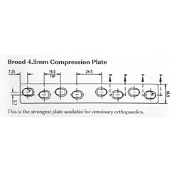 Plate, broad compression, 4.5mm 231mmL