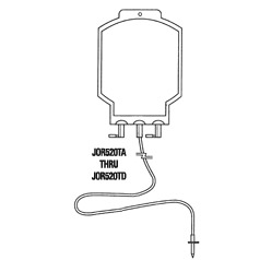Bag, blood transfusion 1 liter, 2 ports w/ tubing, sterile