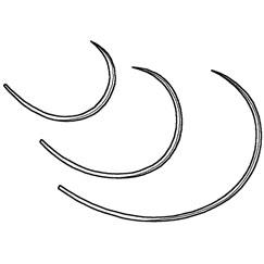Suture, cruciate repair, suture needle-large, 6pk